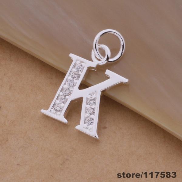 AN217 silver plated Necklace sterling-silver-jewelry fashion pendant letter K /dvcammja aopajfwa - Fancy True Love Jewelry Trade Co.,Ltd store