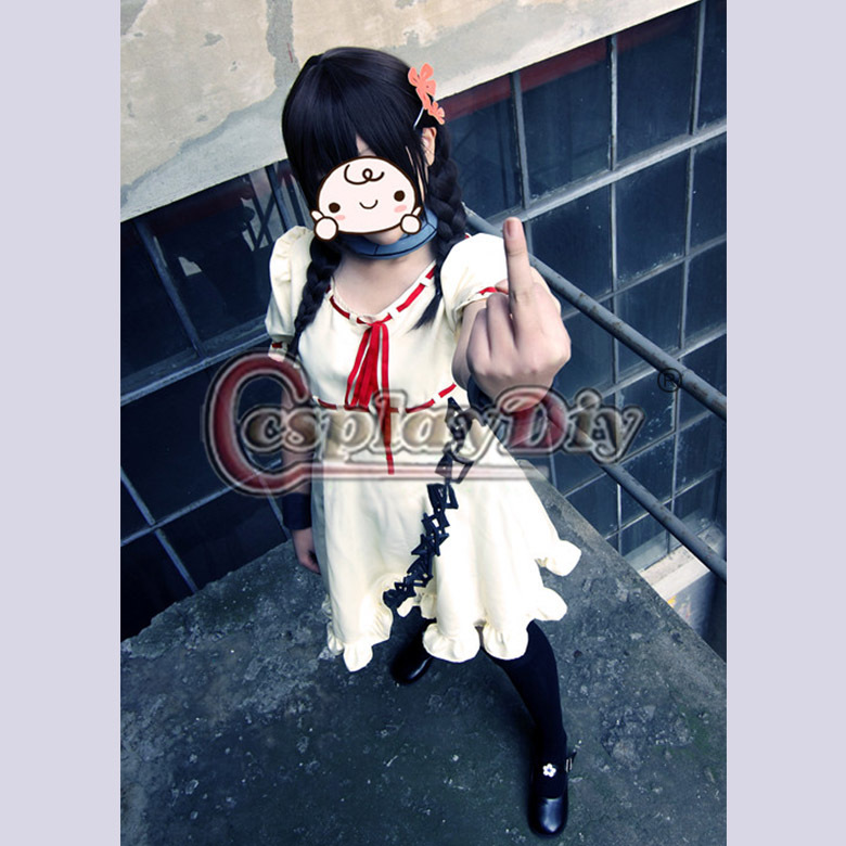 Free Shipping Custom Made Deadman Wonderland Minatsuki Takami Dress Uniform Anime Cosplay Costume For Women Plus SizeОдежда и ак�е��уары<br><br><br>Aliexpress