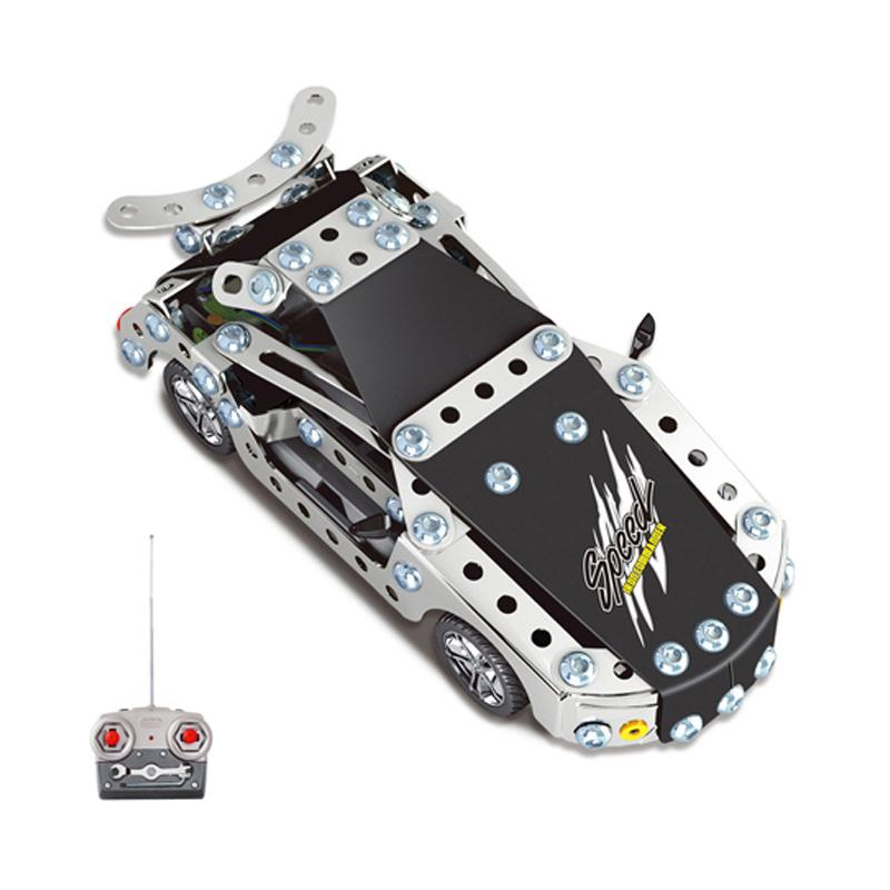 2016 Kids Toys RC Trucks Iron Building Blocks Sets Toys For Gift Items Metal drift Remote Cars Bricks Li-po Batteries(China (Mainland))