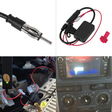 Black 12V Car Automobile Radio Signal Amplifier ANT-208 Auto FM Antenna Booster#(China (Mainland))