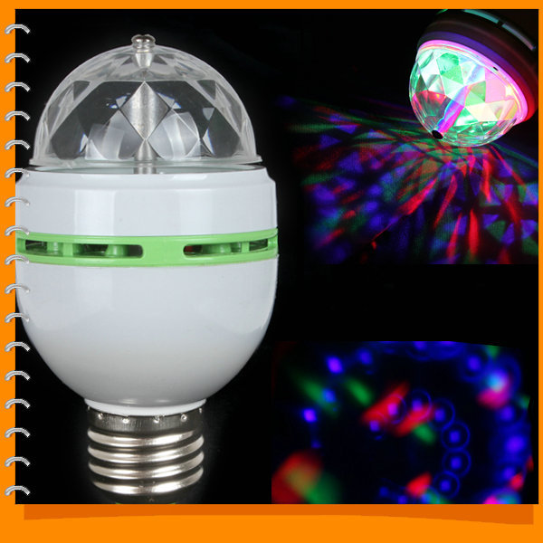 E27 RGB Colorful Effect Rotating Mini Round LED Bulb Crystal Magic Ball Light Stage Lamp for DJ Party Disco Bar KTV Lighting<br><br>Aliexpress