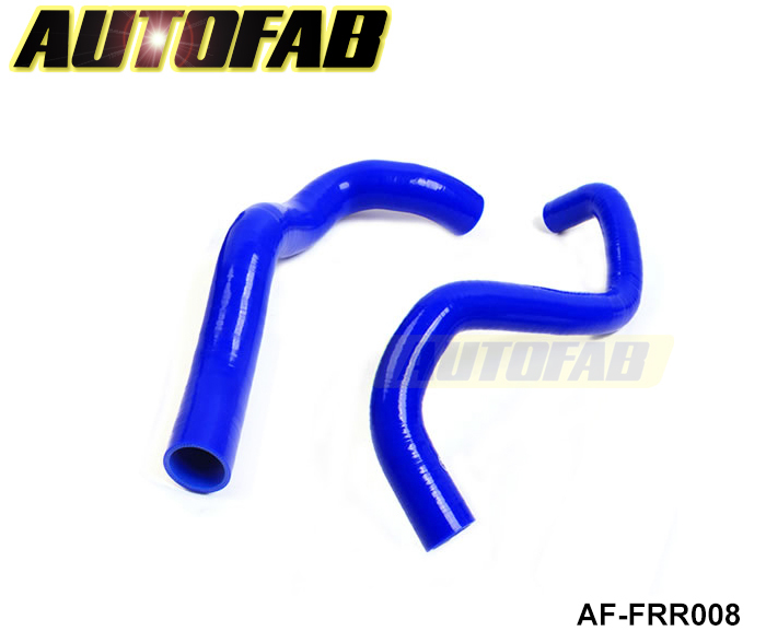 AUTOFAB - Silicone Intercooler Turbo Radiator Heaster Hose kit For Ford Mustang 3.8L 01-04 (2pcs) AF-FRR008(China (Mainland))
