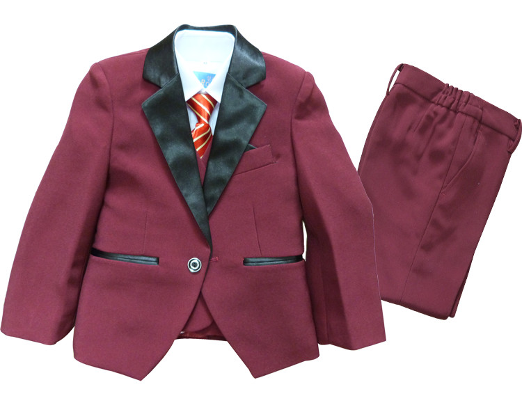 retail child outerwear suit formal party and weddings boy's blazers sets new 2015 kids vest clothes suit(China (Mainland))