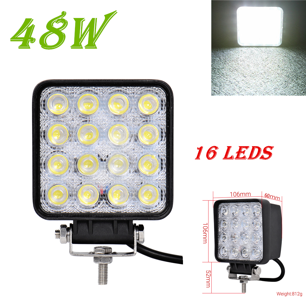 1PCS 48W 4800LM IP65 LED Work Light for Indicators Motorcycle Driving Offroad Boat Car Tractor Truck 4x4 SUV ATV Flood 12V 24V(China (Mainland))