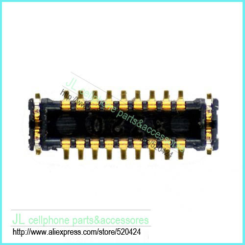 2pcs/lot for iPhone 5S switch power on off flex FPC connector port for mainboard , Free ship