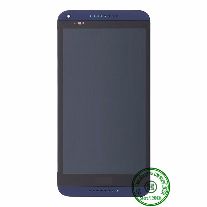 Blue TOP Quality Full LCD Display Touch Screen Digitzer Assembly + Bezel Frame For HTC Desire 816 816W D816x Replacement