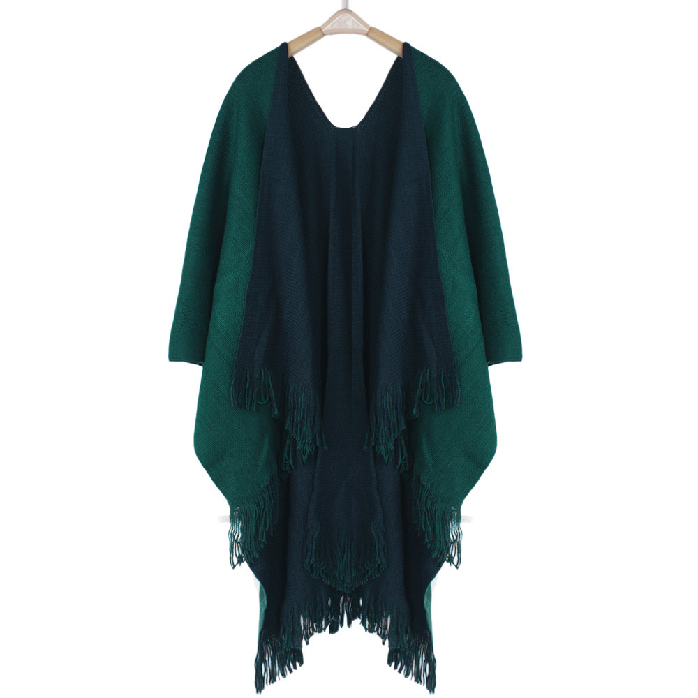 The most Women Winter Knitted Cashmere Poncho Capes Shawl Cardigans Sweater Coat