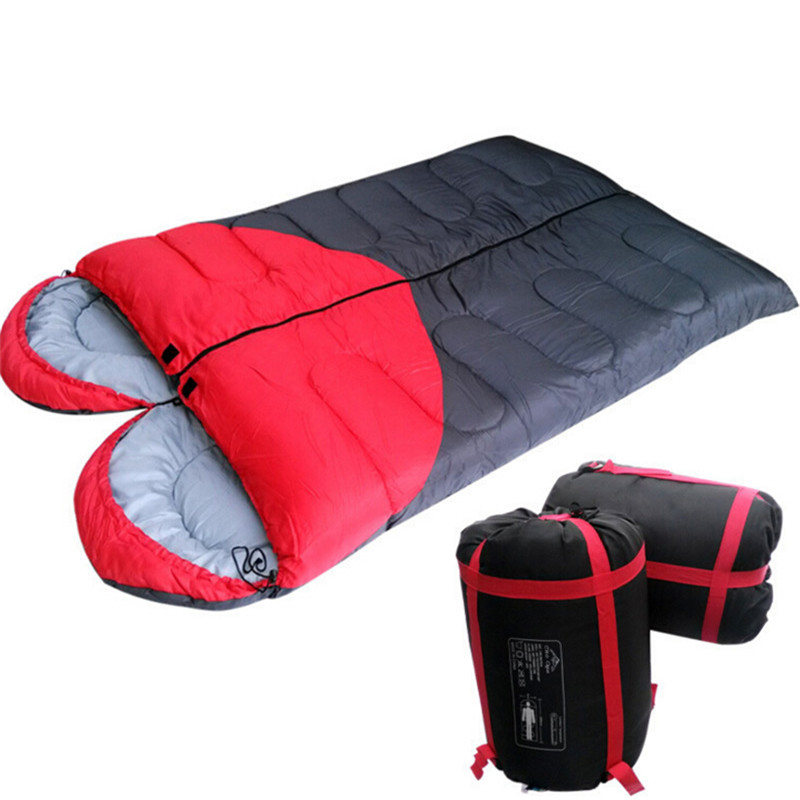 Double Sleeping Bag Lover Heart Camping Sleeping Bag Adult Cotton Liner Envelope Sleep Bags Spring Winter 4 Season Use 1.5kg/pc(China (Mainland))