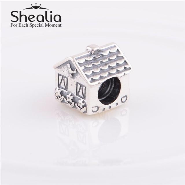 Стерлингового серебра 925 милый дом подвески мода любовь семья подвески DIY изготовления ювелирных изделий приспосабливать известная марка шарм браслеты дизайн