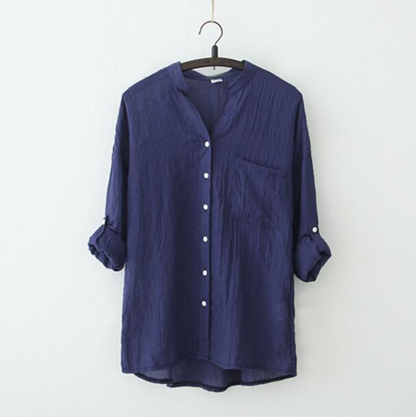 hot Women Tops blusas Summer Style Women Blouses Casual Loose Plus Size Cotton Linen Blouse Three Quarter Sleeve Shirts Одежда и ак�е��уары<br><br><br>Aliexpress