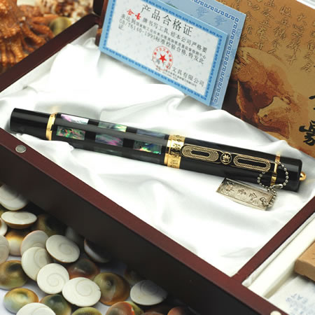 Free shipping stationery school pen office supplies brand JINHAO Fountain Pen B Nib Colorful Abalone Shell with original box<br><br>Aliexpress