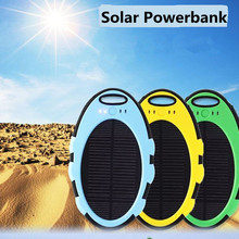 Mirror Style MIni Outdoor Back Up Charge Solar Power Bank 5000mAH Bateria USB External Battery Portable Universal Charger