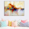 New Hand Painted Abstract Landscape Oil Painting Hang Paintings Modern Colorful View Picture Pictures Big Size