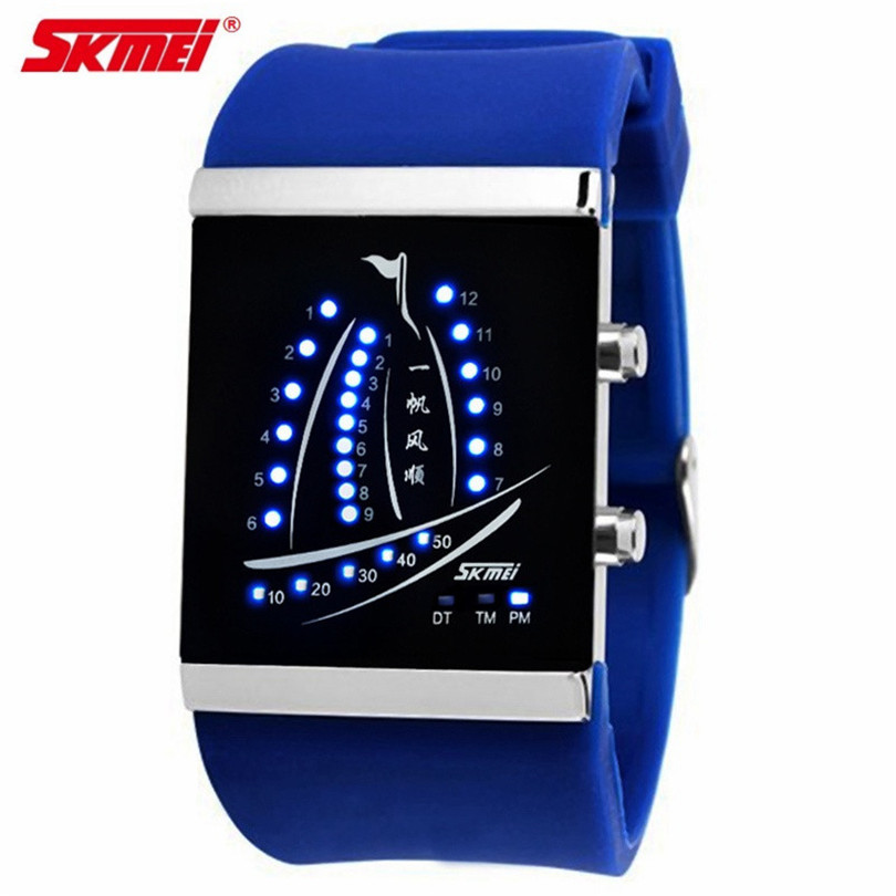 SKMEI Brand LED Sails Men Fashion New Classic Casual Love Jelly Watches Sport Masculino Relojes Mujer Women Dress Silicone Watch(China (Mainland))