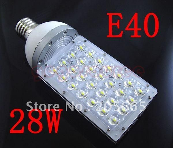 28W LED Street Lights E40 MOGUL Base Light Bulb Street Outdoor Bulb Lamp AC85-265V led Industrial light outdoor lighting lamps(China (Mainland))