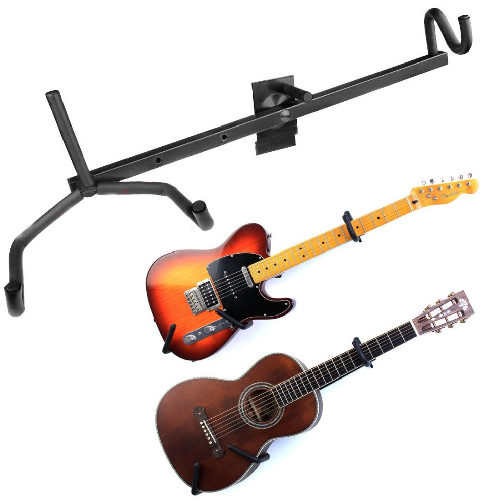Adjustable Electric Guitar Wall Hanger Slatwall Horizontal Acoustic Guitar Holder Bass Stand Rack Hook Free Shipping(China (Mainland))