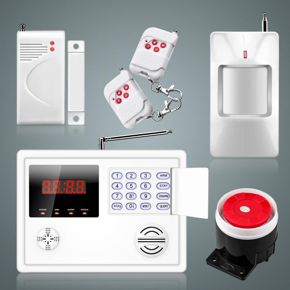 120 Guard Zones Wireless Wired Security System For Smart Home alarm systems PSTN Landline Auto Dialer+Door sensor+PIR sensor.(China (Mainland))