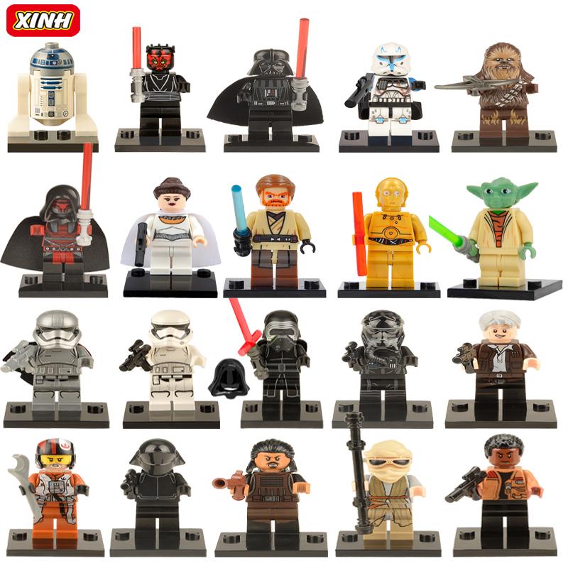 Star Wars Minifigures Single Sale Leia Boba Fett Clone Trooper darth Vader Kylo Ren Figures Blocks Building Toys legoelieds(China (Mainland))