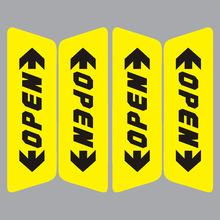 Free Shipping Retail Reflective Car Door Sticker Open Words Safety Warning Sticker Car Styling 2 Colors on Sale(China (Mainland))