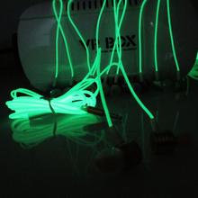 Metal In ear Glow in the Dark Earphones Luminous 3 5mm Noise Cancelling Bass Stereo Headphones