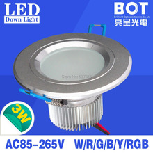 3W LED Downlight silver color 110V/220V 2700-7000K home&commercial indoor lighting energy saving ce/rohs approved(China (Mainland))