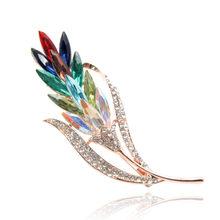 CINDY XIANG Multi-colore di Cristallo di Grano Spille per Le Donne Spilla di Strass Spille Gioelleria raffinata e alla moda Cappotto Del Vestito Corpetto Stile Del Fiore(China)