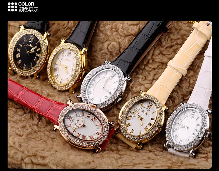 Ретро Рим Леди женские Часы Япония Кварцевые Часы Часы Моды Платье Горный Хрусталь Кожаный Браслет Девушка Подарочной Коробке 460