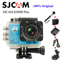 Original SJCAM SJ5000 Plus Sport Action Camera Ambarella A7 WIFI 1080P +Car Charger+Holder+Extra 1pcs Battery+Charger+Monopod