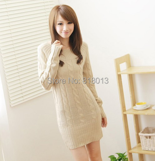 2014 Fall Fashion Women Sweater Pullovers Knitted Spring Casual Winter Thick Warm Sweaters 07027 - sandy FAN's store