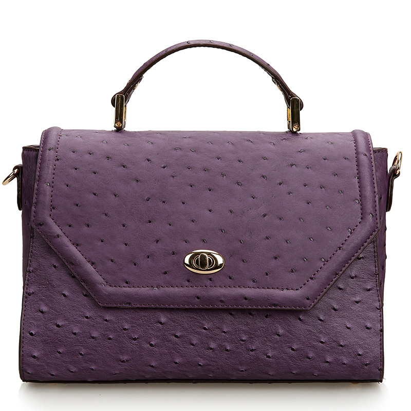 2015 brand messenger tote bag genuine leather women all-match versatil bags ostrich bag embossed fashion handbag satchels bolsa(China (Mainland))