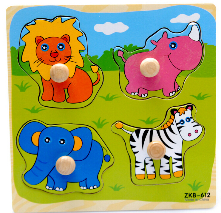 2015 HOT Kid Wooden Jigsaw toys for Children Education and Learning Puzzles toys & Style random(China (Mainland))