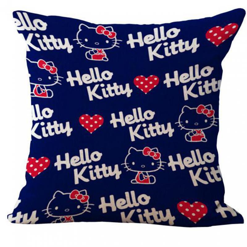 Hot Selling Cartoon Cute Navy Cow Pink Cat Cotton Linen Throw Pillow Home Kids Room Decorative