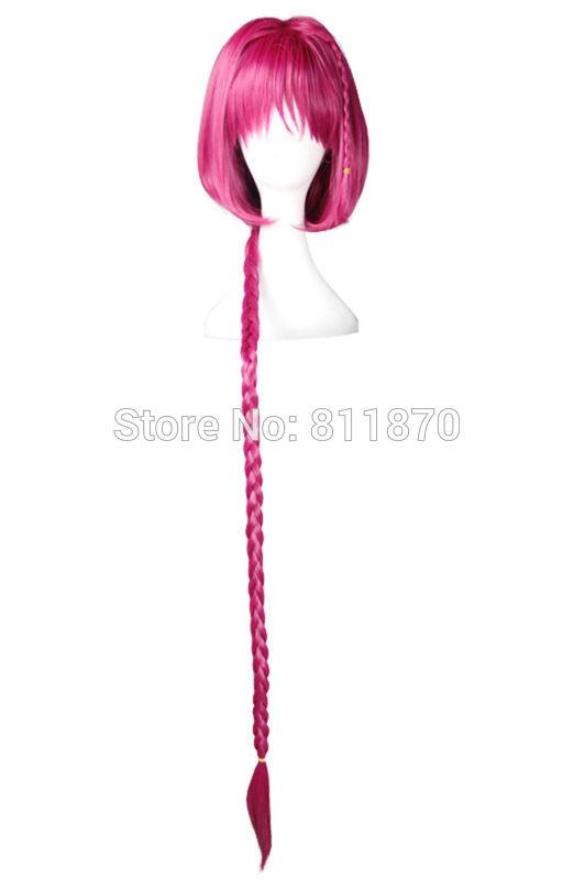 To Love-Ru Cosplay Mea Kurosaki 120cm/47.2 Long Purple Red Curly Hair Costume Wig 385B<br><br>Aliexpress