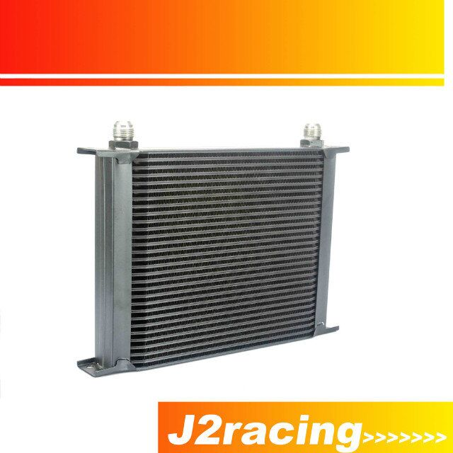 J2 RACING STORE BLACK 30 ROW AN 10AN UNIVERSAL ENGINE TRANSMISSION OIL COOLER JR7030BK