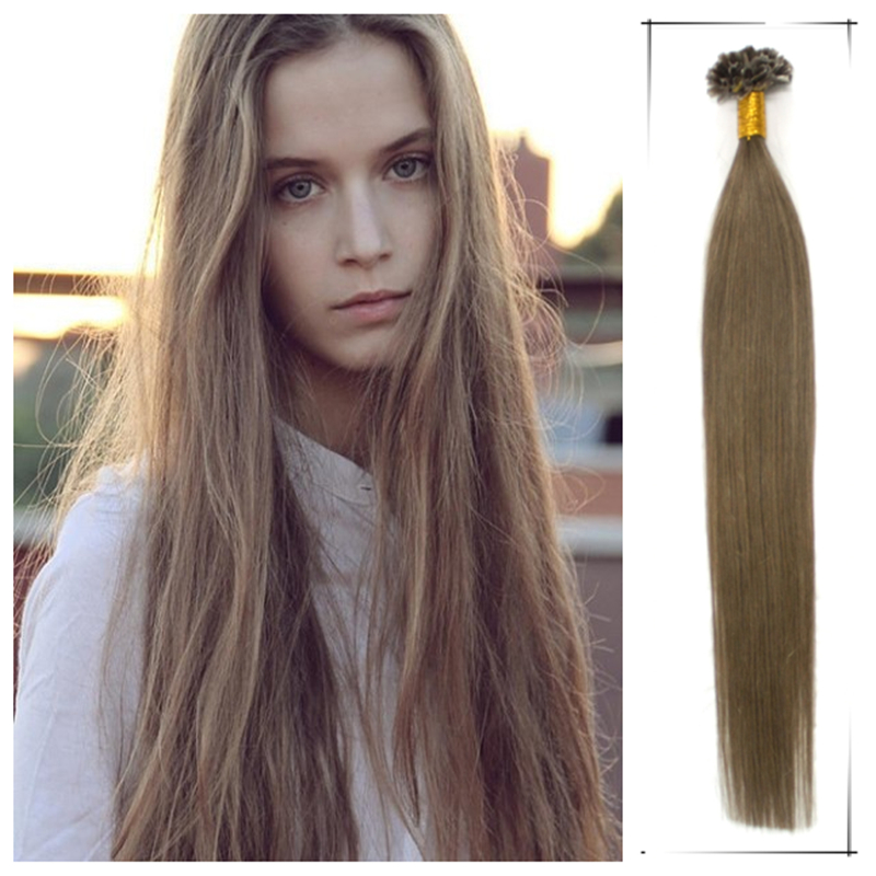Wholesale Apply Hair Straight Brazilian Human keratin Tip Hair Weaves 24Inch 0.5g/s Shedding And Tangle Free Mega Hair Natural(China (Mainland))