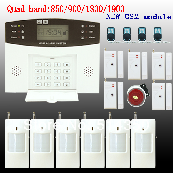 GSM SMS Home Burglar Security Gsm Alarm System Detector Sensor Kit Remote Control Russian lanuage support - AG-Security Flagship store