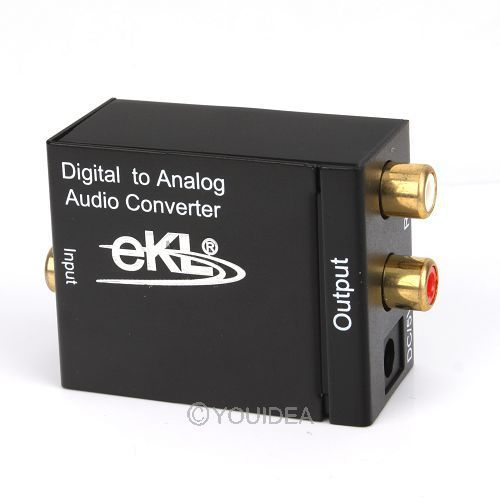 Promotion!!! Converters Audio converter Digital Optical Coax Toslink to Analog Audio Converter adapters free shipping 80417