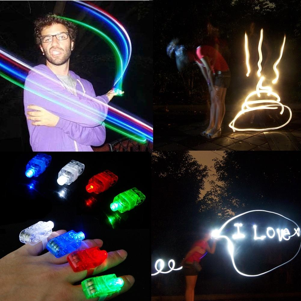 4pcs/lot Finger Light Shiny Neon Stick Laser Finger Beams Colorful LED Ring Luminous Toy Glow Dance Toy Shinning Ring Party(China (Mainland))