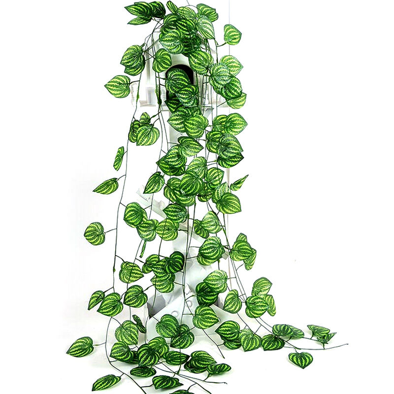 Wedding home garden decoration artificial ivy leaf garland for Artificial leaves for decoration