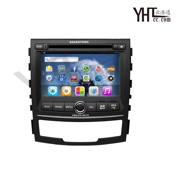 2011 Ssangyong Korando Android car dvd GPS with Dual-processor Core1GHz, radio, rds, bt, ipod, tv, wifi, 3 g, free 8 g card()