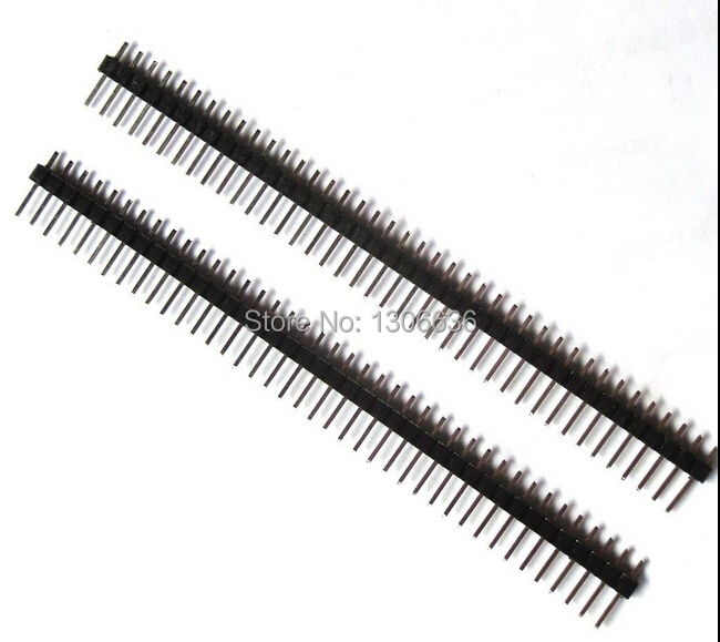 Free shipping 10PCS 40Pin 2.54mm Single Row Straight Male Pin Header Strip PBC for Ardunio(China (Mainland))