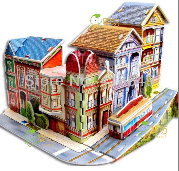 Cute diy handmade dream house 3d dollhouse house model for Dream house 3d