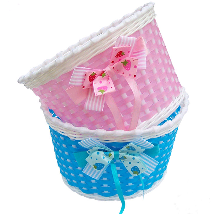 Bike Bicycle Front Basket Flowery Shopping Stabilizers Baskets For Children Kids(China (Mainland))
