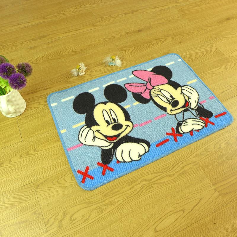 50cm 80cm non slip mat mickey mouse carpet children