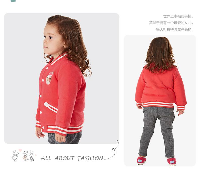 Скидки на Новый бренд 2015 зима девочка пальто бейсбол куртка верхняя одежда детская одежда пальто дети куртка