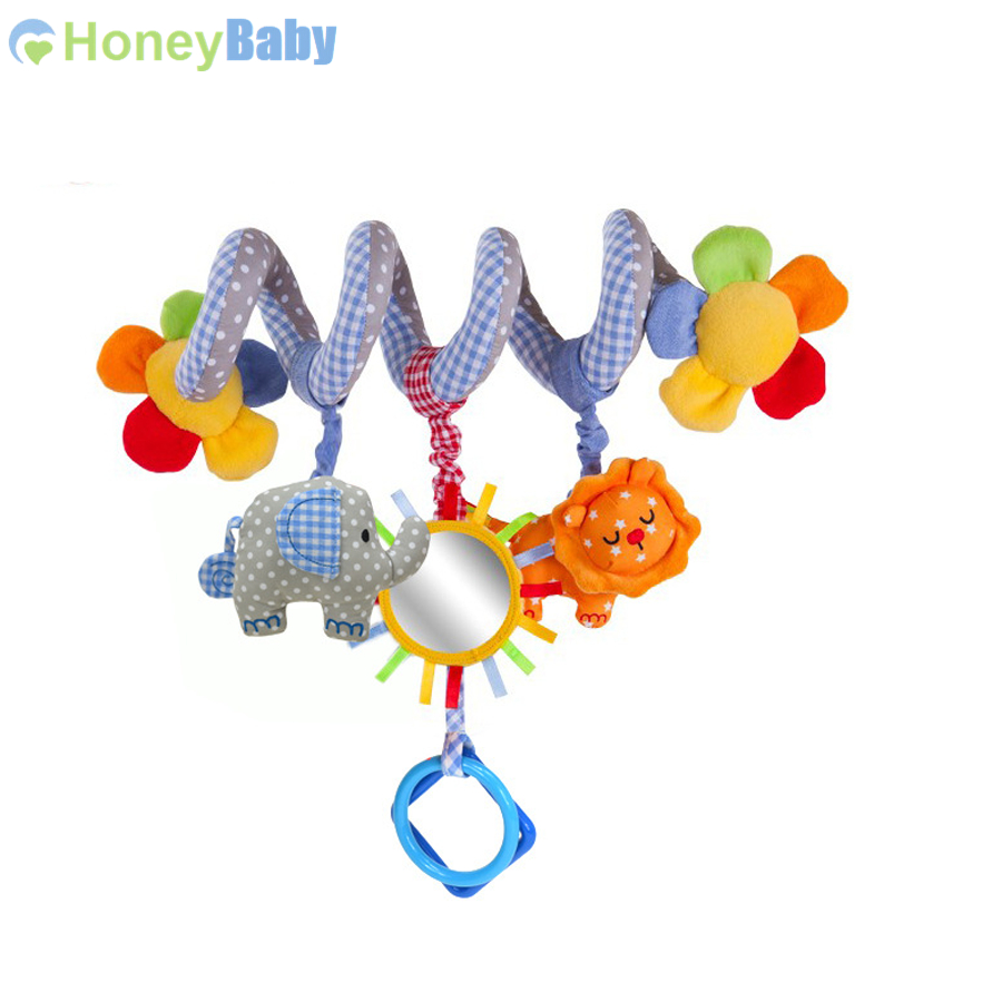 Sozzy baby music educational toys blue bed rattles, bed hanging car hanging bb response paper<br><br>Aliexpress