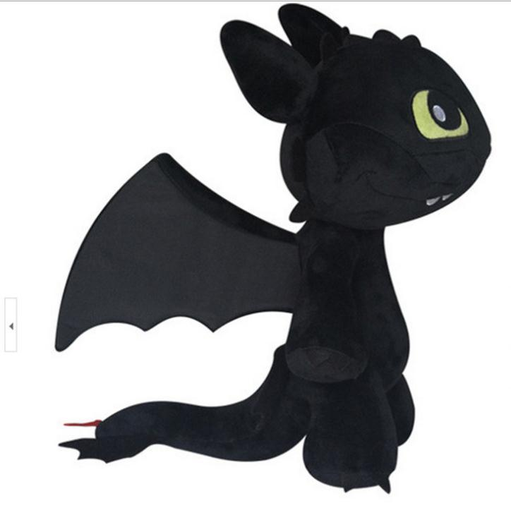 30cm Size Fashion Train Your Dragon 2 Night Fury Plush Toy Toothless Dragon Dolls for Kids Toothless Dragon Stuffed Movie(China (Mainland))