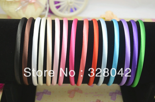 Trail girl hairbands satin covered headwear children & adult mix colors headbands Free Shipping  hair accessory 120 pcs/lot