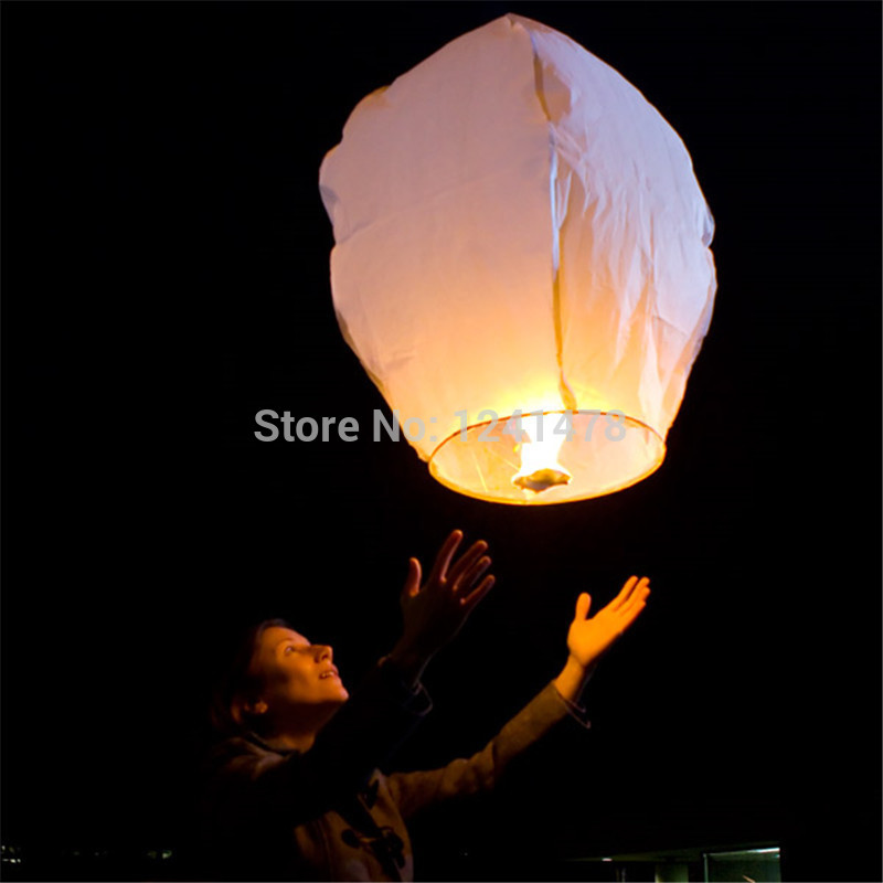 12pcs/lot Chinese sky lantern wire free100%biodegradable flying lantern flame resistant rope pre-attached fuel cell freeshipping(China (Mainland))