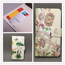 New Ultra thin Flower Flag vintage Flip Cover For Lenovo A859 cell phone case free shipping